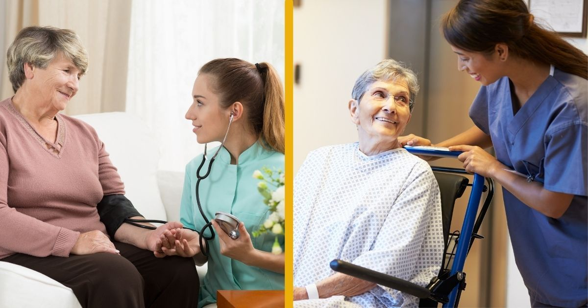 There are pros and cons to both home care and rehab facilities.